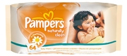 PAMPERS Детские салфетки Naturally Clean 64