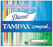 TAMPAX Compak Гигиенические Тампоны с апликатором Super Duo 16шт
