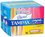 TAMPAX Compak Гигиенические Тампоны с апликатором Regular Duo 16шт