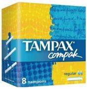 TAMPAX Compak Гигиенические Тампоны с апликатором Regular Single 8шт