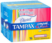 TAMPAX CEF Гигиенические Тампоны с апликатором Regular Duo 16шт