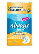 ALWAYS Ultra Женские гигиенические прокладки Light 40шт