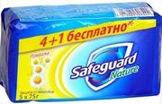 SAFEGUARD мыло туалетное Ромашка 5х75г