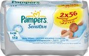 PAMPERS Детские салфетки Sensitive Сменный блок Duo 2х56