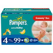 PAMPERS Детские подгузники Active Baby Maxi (7-14 кг) Джайнт Плюс Упаковка 99