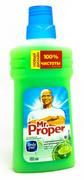 MR PROPER Жидкое моющее средство для уборки пола и стен Бодрящий лайм и мята 500мл