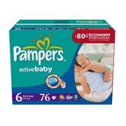 PAMPERS Детские подгузники Active Baby Extra Large (15 plus) Джайнт Плюс Упаковка 76