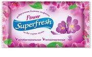 Super Fresh Влажные салфетки Flower 15шт,