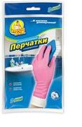 Фрекен Бок Перчатки резиновые розовые универсальные крепкие S