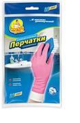 Фрекен Бок Перчатки резиновые розовые универсальные крепкие M