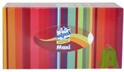 SELPAK Салфетка гигиеническая в коробке 3 слойная Макси микс 100шт