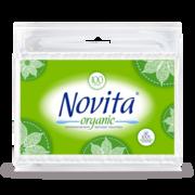 NOVITA Organic Палочки ватные в полиетиленовом пакете 100шт