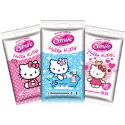 SMILE Влажные салфетки Hello Kitty в ванной 15шт, Еврослот