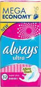 ALWAYS Ultra Женские гигиенические прокладки Super Plus 32шт