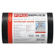 PRO Пакет для мусора  50 * 55 черные ХД 35л/100шт.