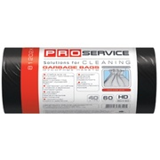 PRO Пакет для мусора  60 * 80 черные ХД 60л/40шт.