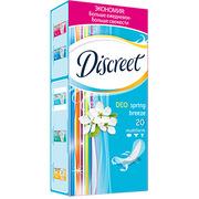 DISCREET Ежедневные гигиенические прокладки Deo Spring Breeze 20шт