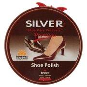 Крем для обуви в железных банках, коричневый, 50 мл