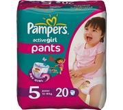 PAMPERS Детские подгузники Active Girl Junior Середня Упаковка 20