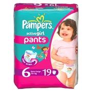 PAMPERS Детские подгузники Active Girl Extra Large Середня Упаковка 19