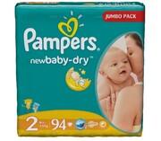 PAMPERS Детские подгузники New Baby-Dry Mini (3-6 кг) Джамбо Упаковка 94
