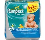 PAMPERS Детские салфетки Baby Fresh Сменный блок Quatro (3 + 1) x64