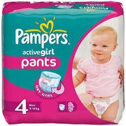 PAMPERS Детские подгузники-трусики Active Girl Maxi (9-14 кг) Микро Упаковка 16