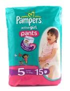 PAMPERS Детские подгузники-трусики Active Girl Junior (12-18 кг) Микро Упаковка 15