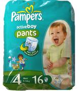 PAMPERS Детские подгузники-трусики Active Boy Maxi (9-14 кг) Микро Упаковка 16