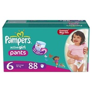 PAMPERS Детские подгузники-трусики Active Girl Extra Large (16+ кг) МегаУпак 88