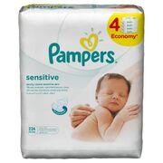 PAMPERS Детские влажные салфетки Sensitive Сменный блок 4x56