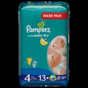 PAMPERS Детские подгузники Active Baby-Dry Maxy (7-14 кг) Микро Упаковка 13