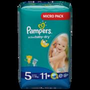 PAMPERS Детские подгузники Active Baby-Dry Junior (11-18 кг) Микро Упаковка 11