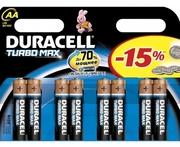 DURACELL TurboMax AA Батарейки алкалиновые 1.5V LR6 8шт