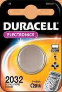 DURACELL Батарейка литиевая для электронных приборов 3V 2032 1шт