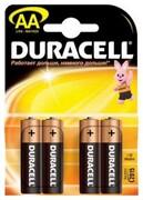 DURACELL Basic AA Батарейки алкалиновые 1.5V LR6 4шт