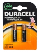 DURACELL Basic AAA Батарейки алкалиновые 1.5V LR03 2шт