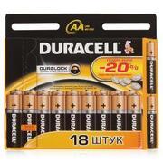 DURACELL Basic AA Батарейки алкалиновые 1.5V LR6 18шт
