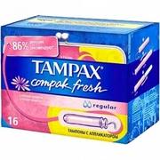TAMPAX Compak Гигиенические Тампоны с апликатором Fresh Regular Duo 16шт