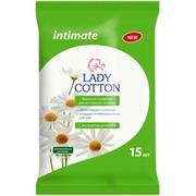 Lady Cotton влажные салфетки Intimate с ромашкой 15шт.