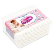 SMILE Палочки ватные детские с ограничителем в квадратной коробке  60шт.