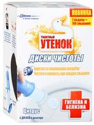 Туалетный Утенок диски чистоты для унитаза Цитрус с отбеливающей формулой, 6 дисков
