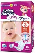 Детские подгузники Helen Harper Midi 4-9 kg, 14шт