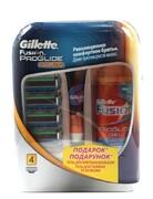 Набор FUSION ProGlide Power (4 картриджа/гель для бритья/бальзам после бритья)