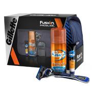 Набор FUSION ProGlide (станок/2 картриджа/гель для бритья/бальзам после брить/косметичка)