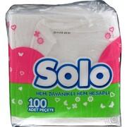 SOLO Супер Салфетки столовые 30 * 30 1-но слойные 100шт