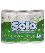 SOLO Полотенце кухонное рециклинговое  белое 3шт