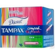 TAMPAX Compak Гигиенические Тампоны с апликатором Fresh Super Duo 16шт