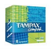 TAMPAX Compak Гигиенические Тампоны с апликатором Super Single 8шт