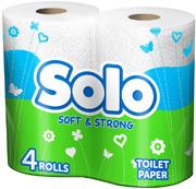 SOLO Туалетная бумага Ультра 4шт